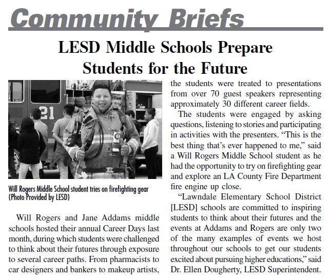LESD Prepares Students for Bright Futures