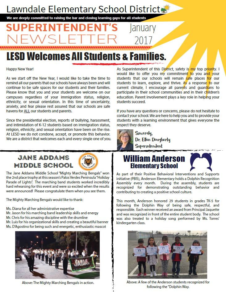 Link to January Newsletter