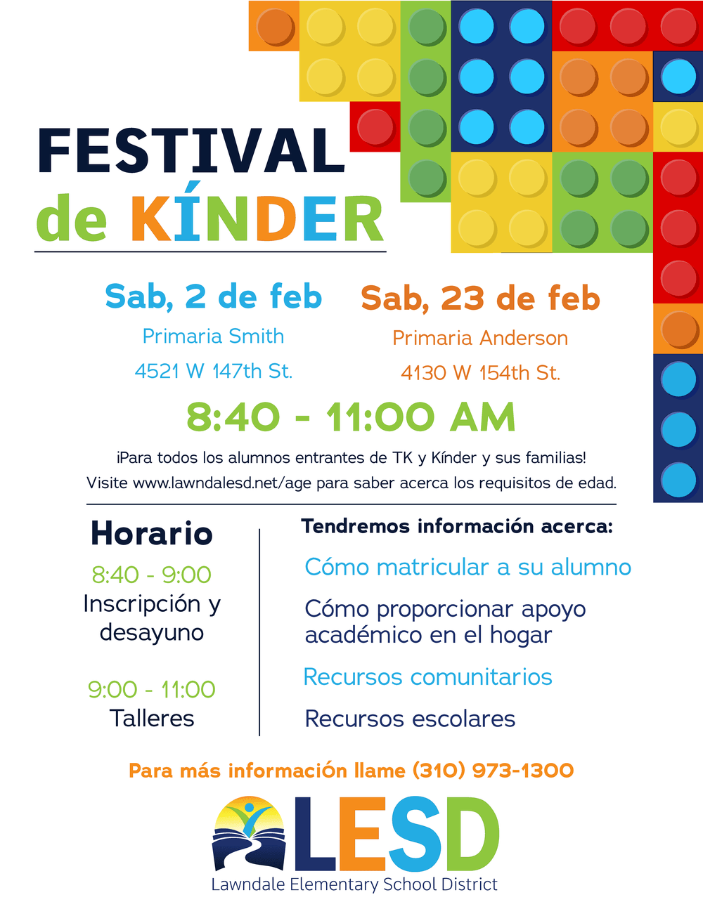 Kinder Festival Flyer Spanish