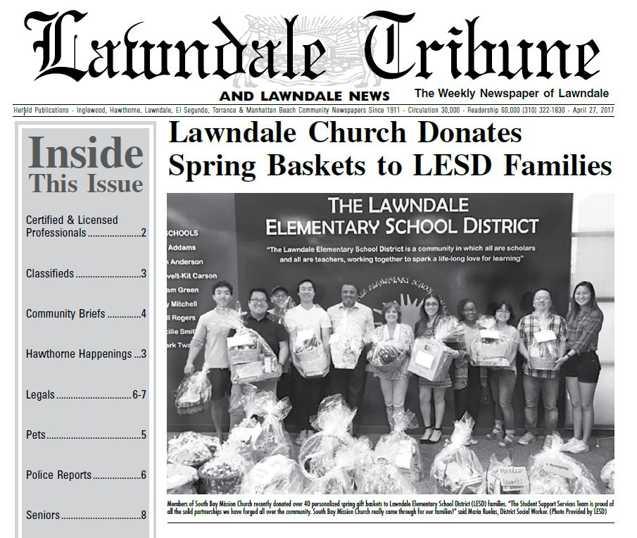 Local Church Donates Spring Baskets to LESD Families