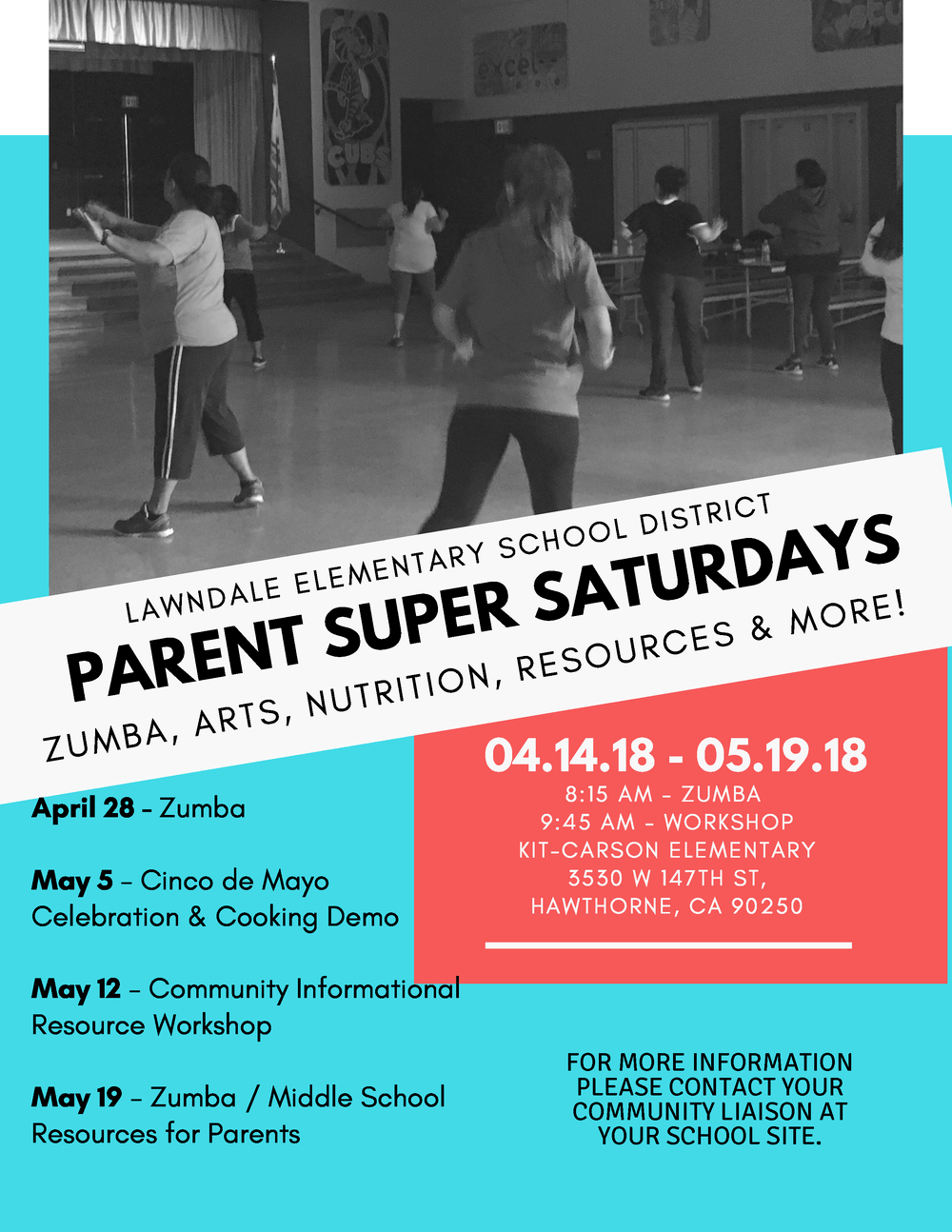 Parent Super Saturdays flyer