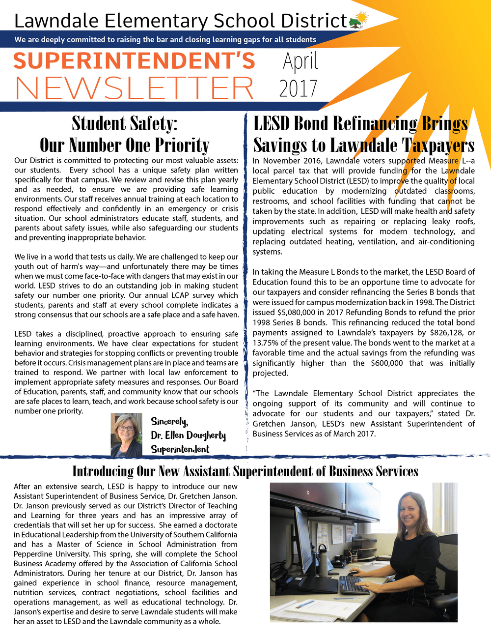 Click here to read the Superintendent s Newsletter