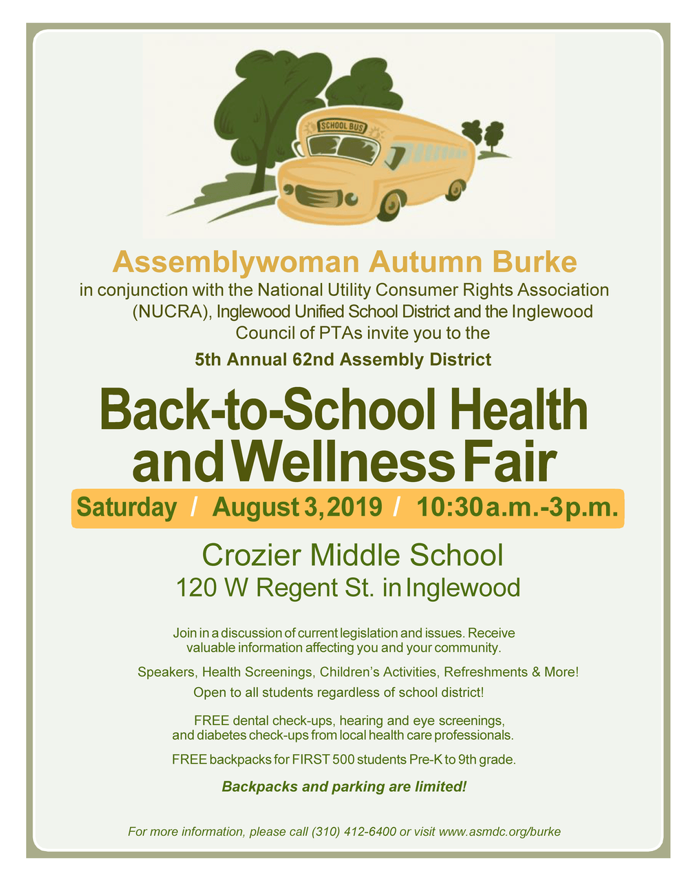 Back-to-School Health Fair Flyer